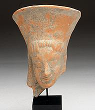 Large Archaic Greek Redware Protome