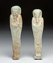 Pair of Matched Egyptian Ushabtis