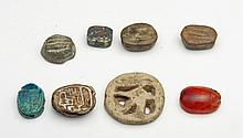 Group of Scarabs, Scaraboids, Amulets (8)