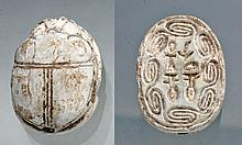Large Egyptian Steatite Scarab