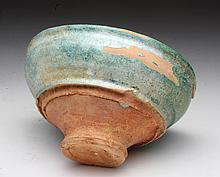 Chinese Han Dynasty Green Glazed Bowl