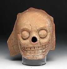 Pre-Columbian Mayan Terracotta Skull