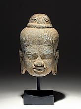 Khmer Carved Stone Buddha Head