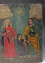 19th C. Mexican Retablo, La Sagrada Familia