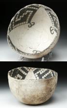 Anasazi Snowflake Black-on-White Pottery Bowl