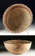 Anasazi Red-on-White Pottery Bowl