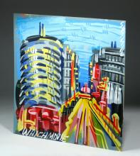 Steve Keene Painting of Capitol Records Building
