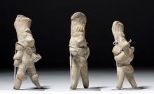 Lot of 3 Xochipala Terracotta Standing Figures