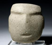 Huge Guerrero Mezcala Stone Mask, ex-Arnovick