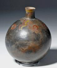 Rare Paracas Pottery Olla with Thick Pigments