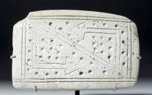Valdivian Carved Stone Palette - Abstract Motif