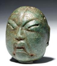 Museum-Quality Olmec Jade Maskette