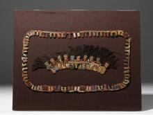 Proto Nazca Textile Muneca Fringe Section - 10 Figures