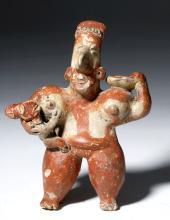 Jalisco Pottery Figure - Mother Holding Child
