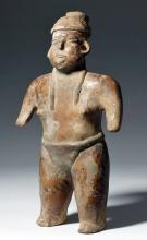 Nayarit Pottery Standing Male Figure