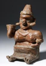 Nayarit Pottery Seated Female w/ Deformity