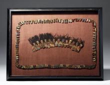 Custom Framed Proto-Nazca Textile Muñeca & Fringe