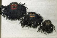 Trio of Large Proto Nazca Muneca Textiles - Framed