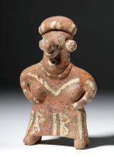 Nayarit Polychrome Standing Female Figure