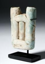 Egyptian Faience Kohl Container - Triple Tube Form
