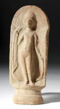 Romano Egyptian Pottery Standing Nude Female
