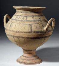 Large Daunian Polychrome Funnel Krater