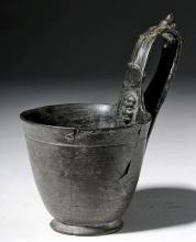 Lovely Etruscan Bucchero Pottery Kyathos