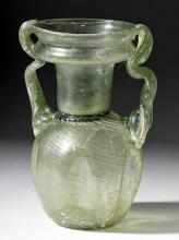 Lovely Roman Glass Twin Handled Vessel