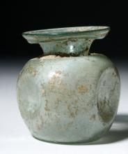 Roman Glass Vessel with Indented Sides