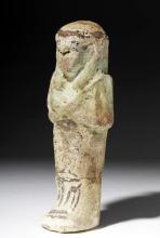 Egyptian Faience Ushabti - Third Intermediate Period
