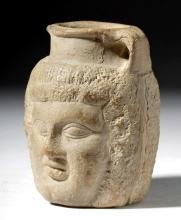 Egyptian Pottery Janus-Headed Jar