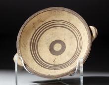 Small Cypriot Twin Handled Bichrome Bullseye Bowl
