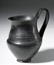 Delicate Etruscan Pottery Bucchero Ware Kantharos