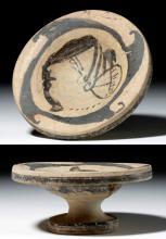 Etruscan Genucilia Plate w/ Lady of Fashion