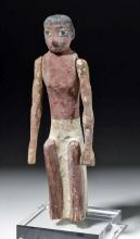 Ancient Egyptian Polychrome Wood Boat Figure