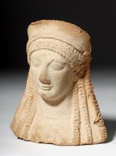 Greek Archaic Pottery Female Protome