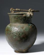 Greek / Persian Bronze Situla - Bird Finials