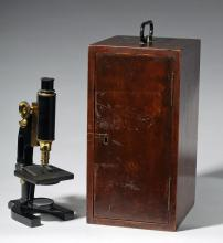 Early 20th C. Spencer Microscope + Original Wood Case