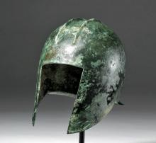 Lot 4D: Fine Greek Illyrian Bronze Helmet