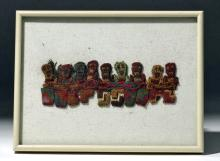 Proto-Nazca Textile Munecas Framed Panel