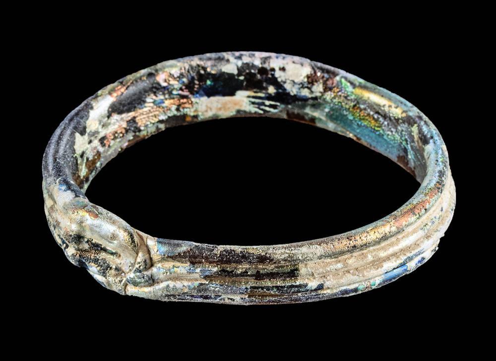 Roman Glass Bracelet w/ Stunning Iridescence