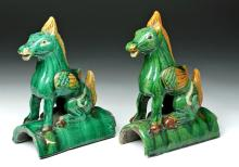 Chinese Qing Glazed Roof Tiles - Longma (Pegasus)