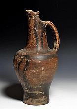 Etruscan Terracotta Beaked Oinochoe