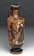 Superb Greek Attic Lekythos - Ariadne and Satyrs