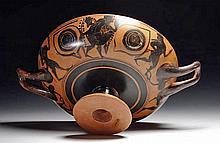 Greek Attic Black Figure Kylix - Owl Eyes