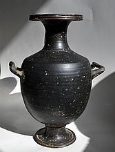 Large Greek Blackware Hydria