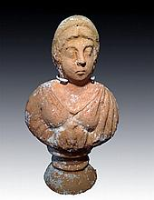 Ancient Roman Terrracotta Bust of a Woman