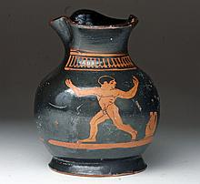 Adorable Greek Attic Youth's Chous, Ex-Sotheby's