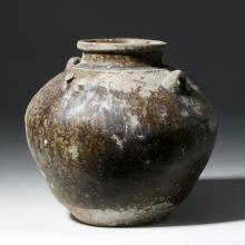 Thai Khmer Dynasty Glazed Jar