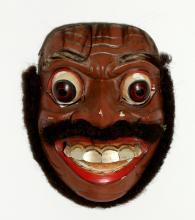 Indonesian Topeng Patih Demung Wood Mask